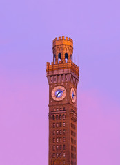 Sunrise over Emerson Bromo-Seltzer Tower in Baltimore