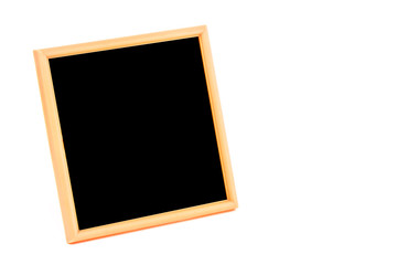 Plastic color photo frame on white background