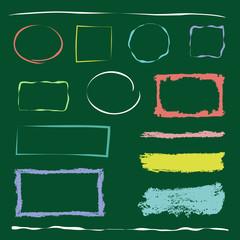黒板と手描きフレーム / vector eps