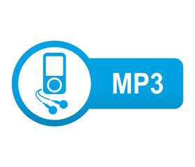 Etiqueta tipo app azul alargada MP3