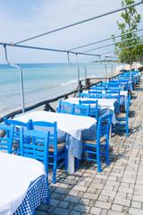 Outdor restaurant at the beach