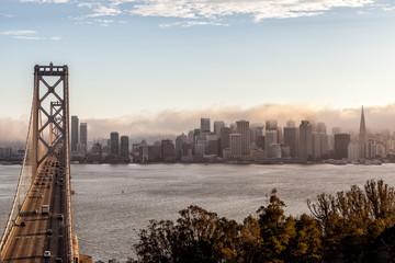 Deurstickers San Francisco Bay Bridge view, San Francisco