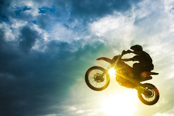 Wall Murals Motor sports Motocross Bike Jump