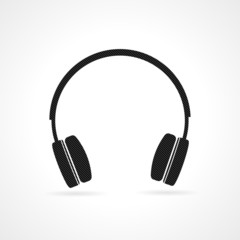 Black headphones icon