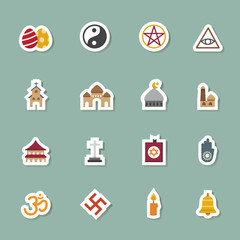 religion color icons