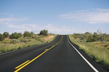 Long Empty Desert Highway Horizon