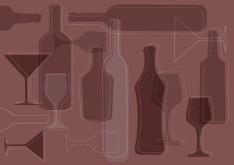 Wine background-vector