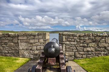 Fort Charlotte cannon, Lerwick, Scotland