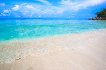 Tropical beach of Andaman Sea in Tachai island - Thailand