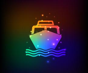 Boat symbol,Rainbow vector