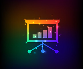 Presentation symbol,Rainbow vector