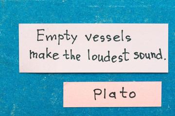 empty vessels