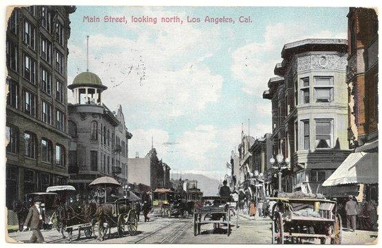 Los Angeles, Main Street 1908 (hist. Postkarte)