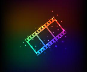 Film symbol,Rainbow vector