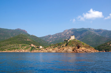 Wall Mural - Girolata Village in Nature Reserve of Scandola, Corsica