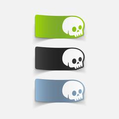 realistic design element: skull