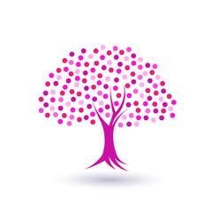 Pinky circles tree image logo