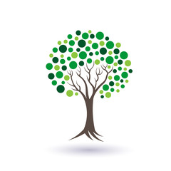 Green circles tree image logo