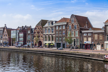 Haarlem, Netherlands. Typical urban view. Old houses