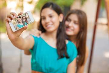 Selfie with a smart phone