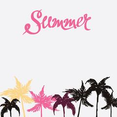 summer hand drawn background