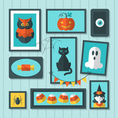 Flat vector illustration for Halloween holiday
