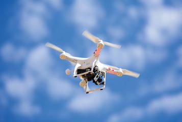 Flying uav Quadrocopter drone