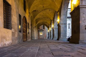 Toscana, portico medievale