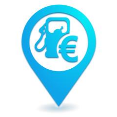 prix des carburants sur symbole localisation bleu