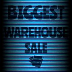 Biggest warehouse sale blue template