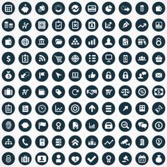 100 finance icons.