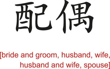 Chinese Sign for bride and groom, husband, wife,husband and wife