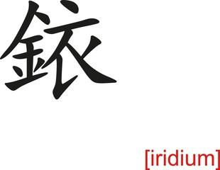 Chinese Sign for iridium