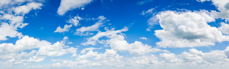 Poster Heaven blue sky background with clouds