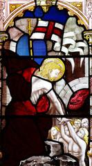 Fototapete - Jesus Christ saving people from hell