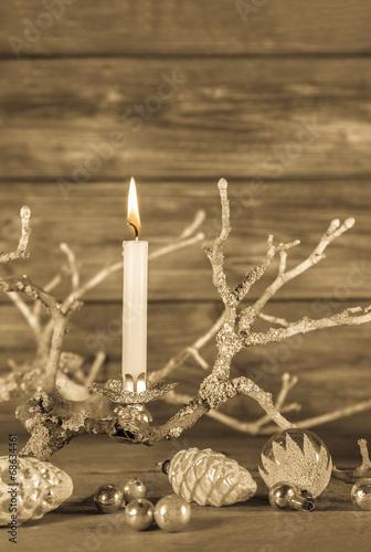 dekoration weihnachten erster advent eine brennende. Black Bedroom Furniture Sets. Home Design Ideas