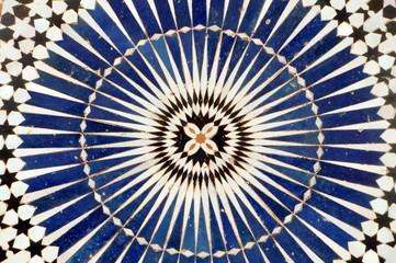 Mosaik blau und weiss