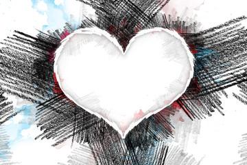 Heart pancil 28