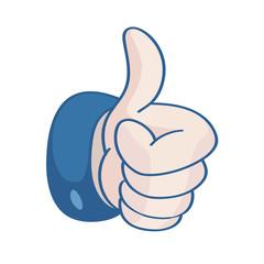 thumb up, i like it (vector)
