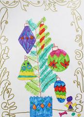 dressed festive holiday tree on Christmas