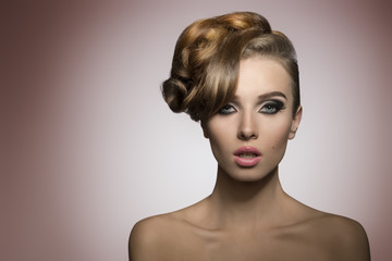 female with fashion creative hairdo