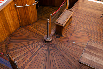 deck of the sailboat