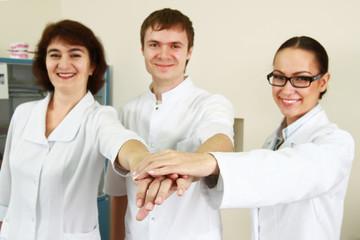 Medical doctors standing in office