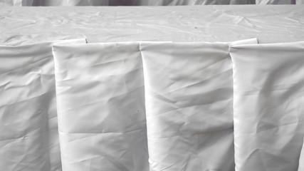 white fabric soft waves