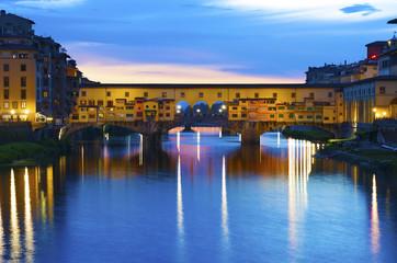 Fototapete - Ponte Vecchio - the bridge-market Florence.Italy