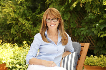 Beautiful middle age woman portrait
