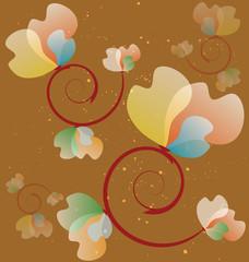 Flower Background Use for Design