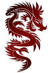Dragon in eastern style
