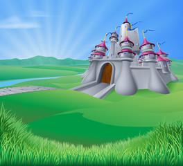 Castle Landscape Illustration