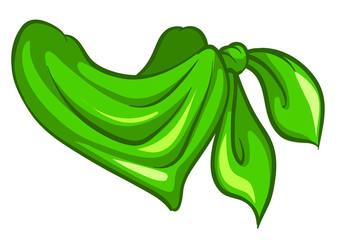 A green scarf